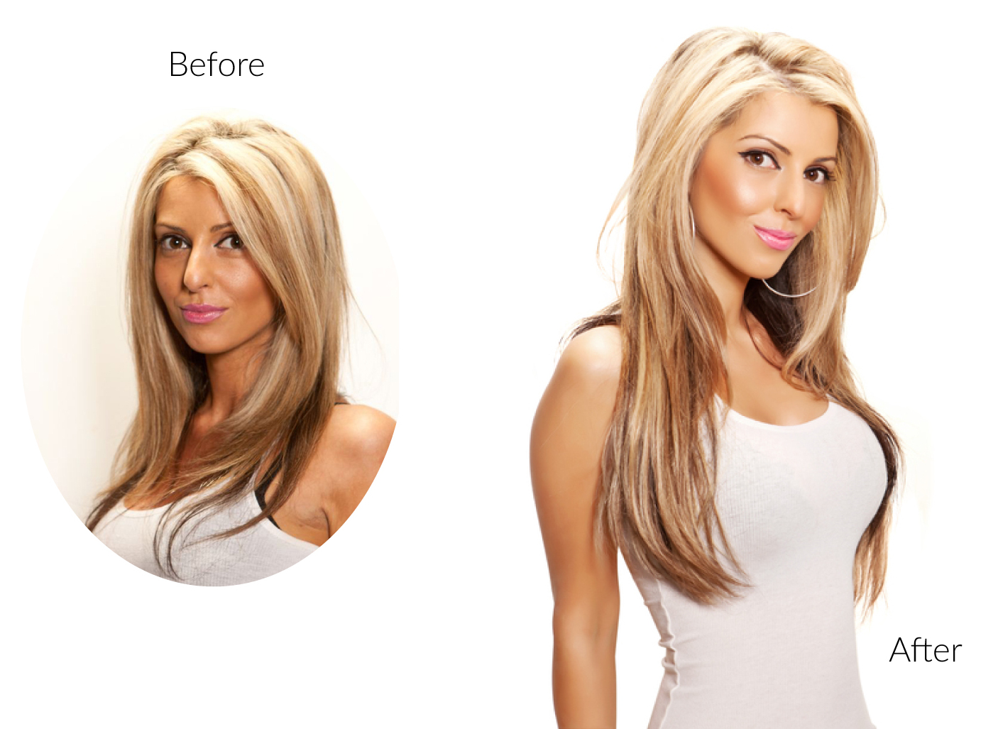 Hair Extensions Before And After London Secret Extensions
