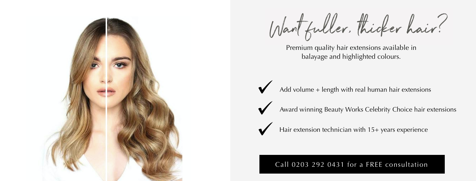 Hair extensions and hair weaves in London